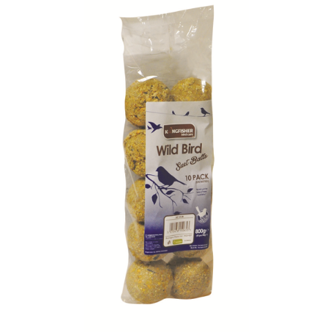 Suet Fat Balls For Wild Bird Feeders (Pack of 10)